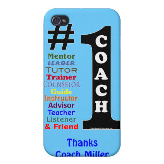 #1 Coach, Personalized iPhone Case iPhone 4 Cover