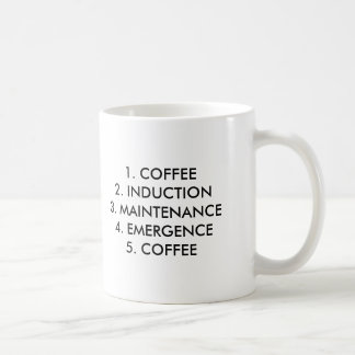 1. COFFEE 2. INDUCTION 3. MAINTENANCE4. EMERGEN... COFFEE MUG