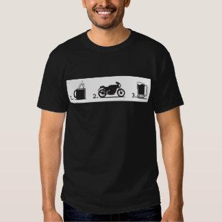 1. Coffee, 2. motorcycles, 3. beer - For dark shir T-shirt