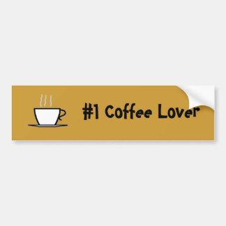#1 Coffee Lover Car Bumper Sticker
