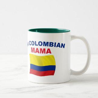 #1 Colombian Mama Two-Tone Coffee Mug