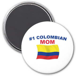 #1 Colombian Mom 3 Inch Round Magnet