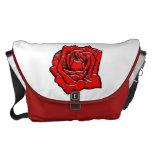 #1 color de rosa bolsa de mensajería