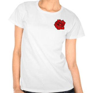#1 color de rosa camisetas