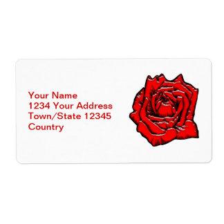 #1 color de rosa etiquetas de envío