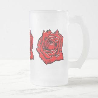 #1 color de rosa taza