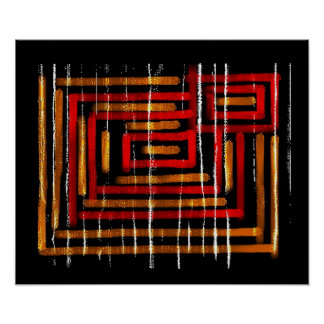 1 : : Colorful Abstract Art Poster