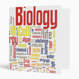 1'' Colorful Biology Wordle Vinyl Binders