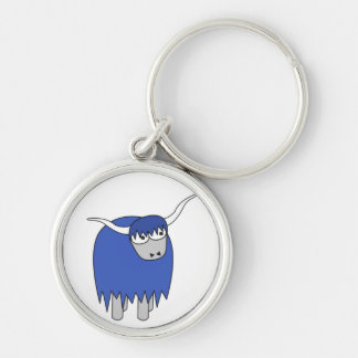 1 Coo Silver-Colored Round Keychain
