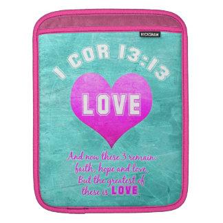 1 Cor 13:13 LOVE Christian Bible Verse Religious iPad Sleeve