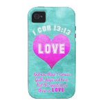 1 Cor 13:13 The Greatest is LOVE Bible Verse Quote Case-Mate iPhone 4 Cases