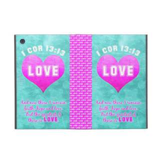 1 Cor 13:13 The Greatest is LOVE Bible Verse Quote Covers For iPad Mini