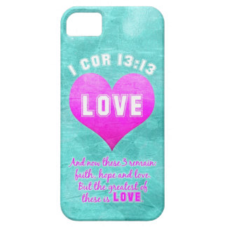 1 Cor 13:13 The Greatest is LOVE Bible Verse Quote iPhone 5 Cases
