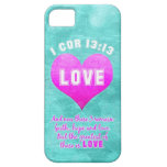 1 Cor 13:13 The Greatest is LOVE Bible Verse Quote iPhone SE/5/5s Case