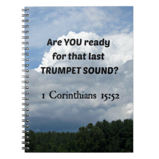 1 Cor. 15:52 - The Rapture! Spiral Notebook