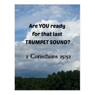 1 Cor. 15:52 - The Rapture! Postcard