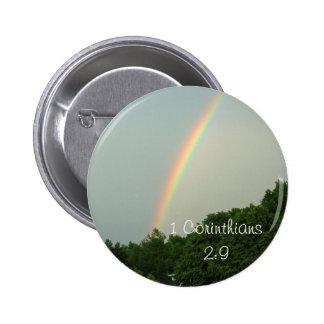 1 Cor. 2:9 Rainbow Button