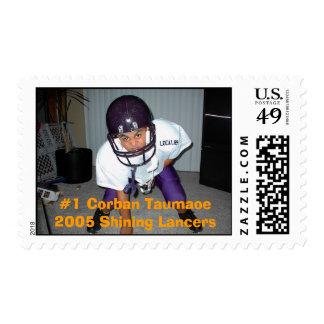 #1 Corban Taumaoe    2005 Shining Lancers Postage Stamps