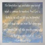1 Corinthians 10:13 bible verse Poster