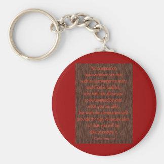 1 Corinthians 10:13 Key Chains