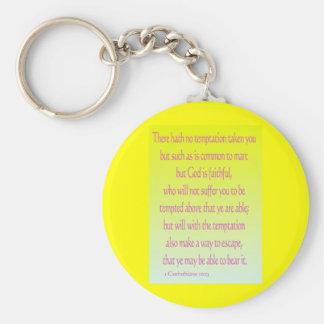 1 Corinthians 10:13 Key Chain