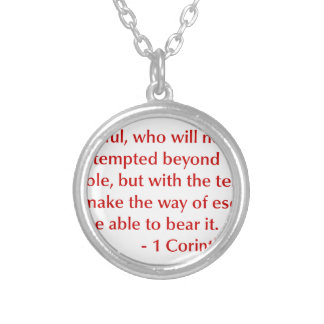 1-Corinthians-10-13-opt-burg.png Silver Plated Necklace