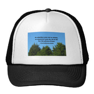 1 Corinthians 10:31 So whether you eat or drink... Mesh Hats