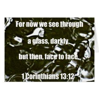 1 Corinthians 13:12 Card