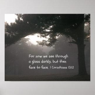 1 Corinthians 13:12 Poster