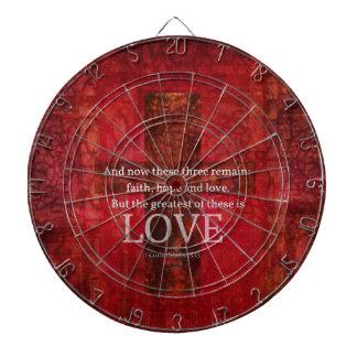 1 Corinthians 13:13 BIBLE VERSE ABOUT LOVE Dartboard