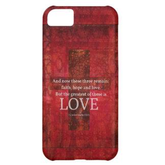 1 Corinthians 13:13 BIBLE VERSE ABOUT LOVE iPhone 5C Case