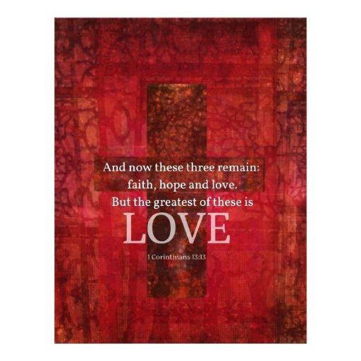 1 Corinthians 13:13 BIBLE VERSE ABOUT LOVE Letterhead