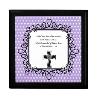 1 Corinthians 13:13 Bible Verse Keepsake Box