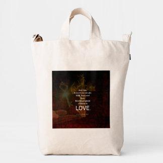 1 Corinthians 13:13 Bible Verses Quote About LOVE Duck Bag