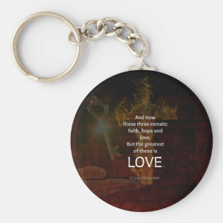 1 Corinthians 13:13 Bible Verses Quote About LOVE Keychain