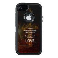 1 Corinthians 13:13 Bible Verses Quote About LOVE OtterBox Defender iPhone Case