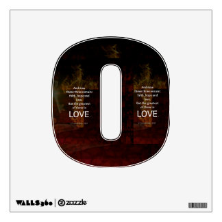 1 Corinthians 13:13 Bible Verses Quote About LOVE Wall Sticker