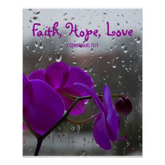 1 Corinthians 13:13 Faith Hope Love Inspirational Perfect Poster