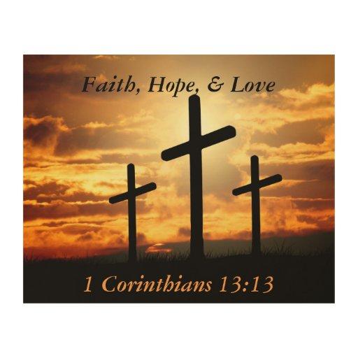 1 corinthians 13 13 faith hope love pray prayer wood wall. Black Bedroom Furniture Sets. Home Design Ideas