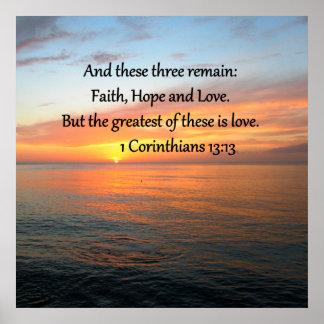 1 CORINTHIANS 13:13 SUNRISE PHOTO POSTER