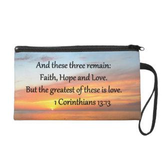 1 CORINTHIANS 13:13 SUNRISE PHOTO WRISTLET PURSE