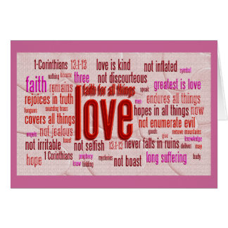 1 Corinthians 13:1-13 Heart Cloth Cards