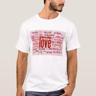 1 Corinthians 13:1-13 Heart Cloth T-Shirt