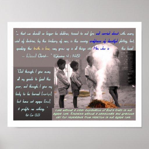 1 Corinthians 13:3 Poster