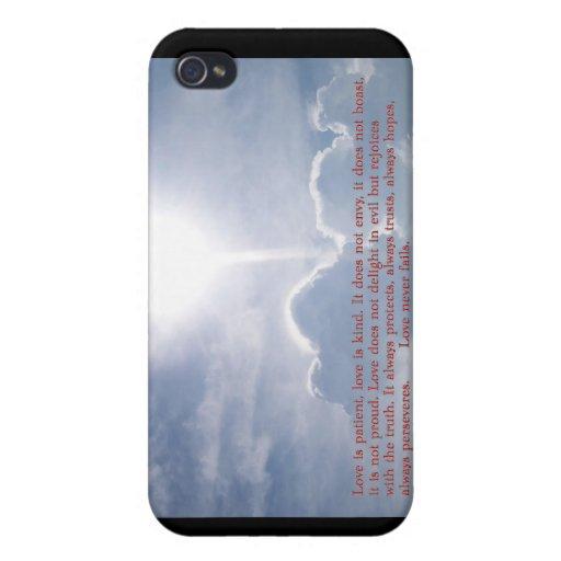 1 Corinthians 13:4 6-7 Clouds iPhone 4 Case