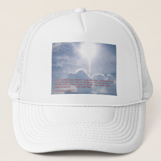 1 Corinthians 13:4 6-7  Clouds Trucker Hat