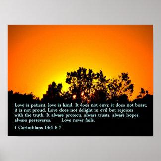 1 Corinthians 13:4 6-7 Sunset Posters