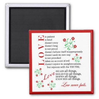 1 Corinthians 13 4-8 | Love Never Fails Magnet