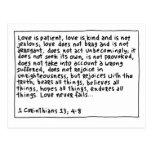1 Corinthians 13 4-8 Postcard