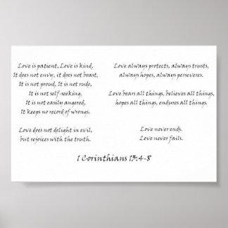 1 Corinthians 13 4-8 Poster